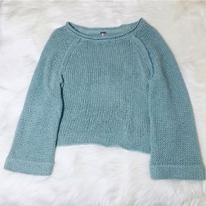 Free People Sage Knit Open Cage Back Sweater!